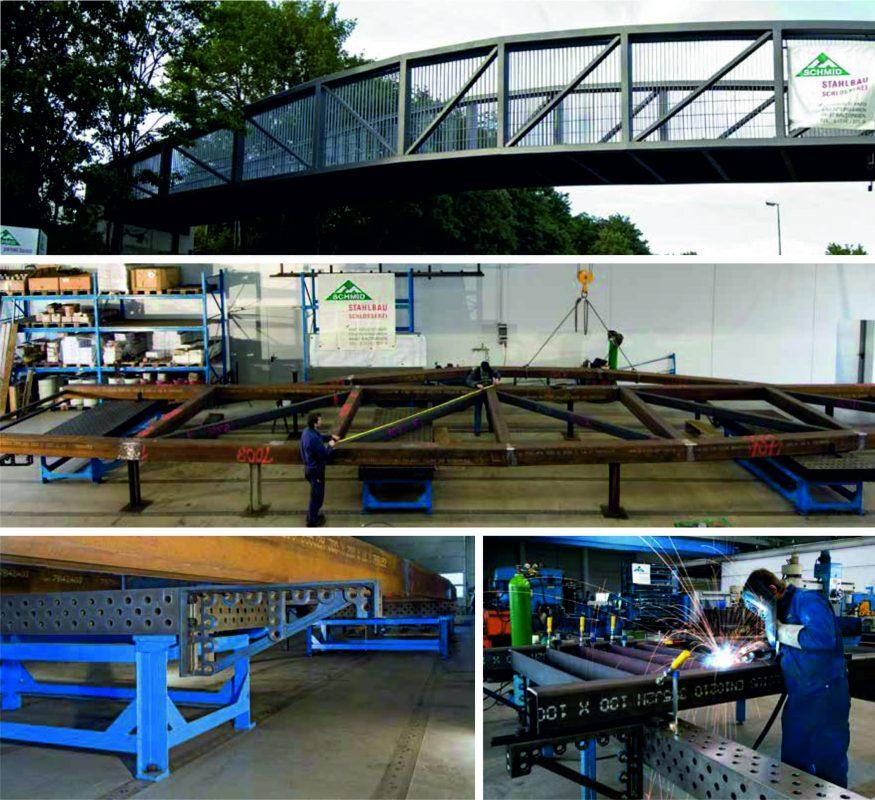 Использование опорно-рельсовой системы Siegmund при строительстве пешеходного моста